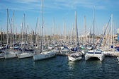Many yachts are at berth — Stock Photo