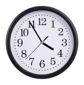 Office clock shows five minutes to four — Stock Photo