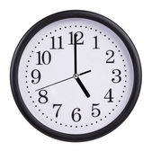 Five o'clock on the dial clock — Stock Photo