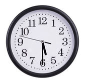 Office round clock shows half past five — Stock Photo