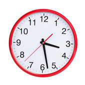 Half of the fourth on a round clock face — Stock Photo