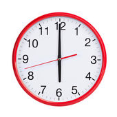 Six hours on a round dial — Stock Photo