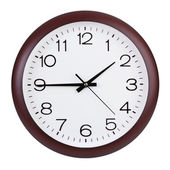 Quarter to two in the round clock — Stock Photo