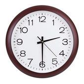 Round clock shows half of the third — Foto de Stock