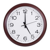 Five o'clock on the dial — Stock Photo