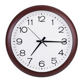 Fifteen minutes past seven on the clock — Stock Photo