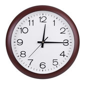Clock shows the first fifteen minutes — Stockfoto