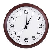 Exactly one hour on the round clock — Stock Photo