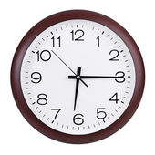 Fifteen minutes of the seventh on the round dial — Stock Photo