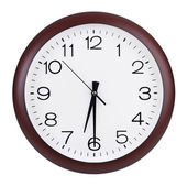 Half of the seventh on a clock face — Stock Photo