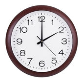 Exactly two hours on the round clock — Stock Photo