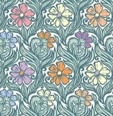 Seamless floral pattern — Stock Vector