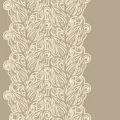 Floral design border in vintage style — Stock Vector
