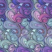 Бесшовный абстрактный вьющийся образец волны — Cтоковый вектор