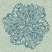 Floral design element vintage style — Stock Vector