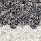 Paisley seamless lace pattern — Stock Vector