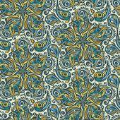 Seamless ornate floral pattern — Stockfoto
