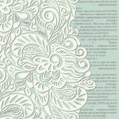 Shabby vintage wallpaper background — Stock Photo