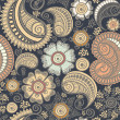 Seamless elegant paisley pattern — Stock Photo