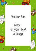 School frame — Stock Vector