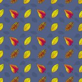 Seamless pattern with leaves — Stockvector