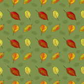 Seamless pattern with leaves — 图库矢量图片