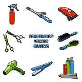 Hairdresser accessories — Stock Vector
