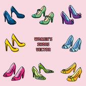 Zapatos de mujer — Vector de stock