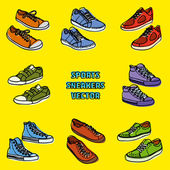 Sports sneakers — Vettoriale Stock
