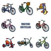 Different bikes — Stock Vector