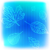 Blue leaves background — Stock Vector