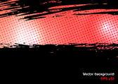 背景与红色画笔描边和文本的地方 — 图库矢量图片
