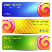 Set of colorful vector banners or header — Stock Vector