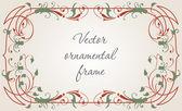 Ornamental decorative frame — Stock Vector