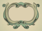 Vector frame. Heraldic shield — Stock Vector