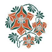 Floral round pattern in modernist style. — Stock Vector
