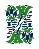 Floral design elements and page decoration. Art Nouveau style. — Stock Vector