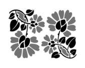 çiçek gri tonlu desenмелодраматичний. — Stok Vektör