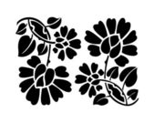 Black flower pattern. — 图库矢量图片