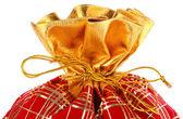 圣诞袋满的呈现圣诞大袋礼物 — 图库照片