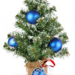 Stock Photo: Christmas tree with blue decoration christmas tree with blue decoration christmas tree with blue decoration