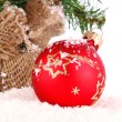 Christmas red decoration — Stock Photo #15466385