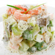 Stock Photo: Salad of shrimp avocado and apple