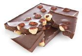 Chocolate with hazelnut — Stock Photo