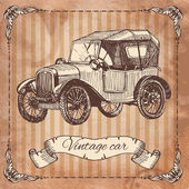 Vintage car — Stock vektor
