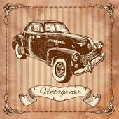 Vintage car — Vector de stock