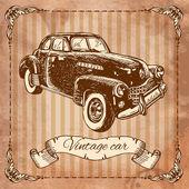 Eski model araba — Stok Vektör