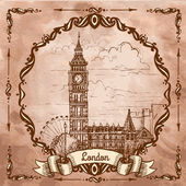Bigben in London. — Stock Vector