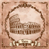 The Colosseum in Rome — Stock Vector