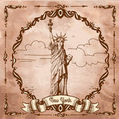 The Statue of Liberty — Stock Vector